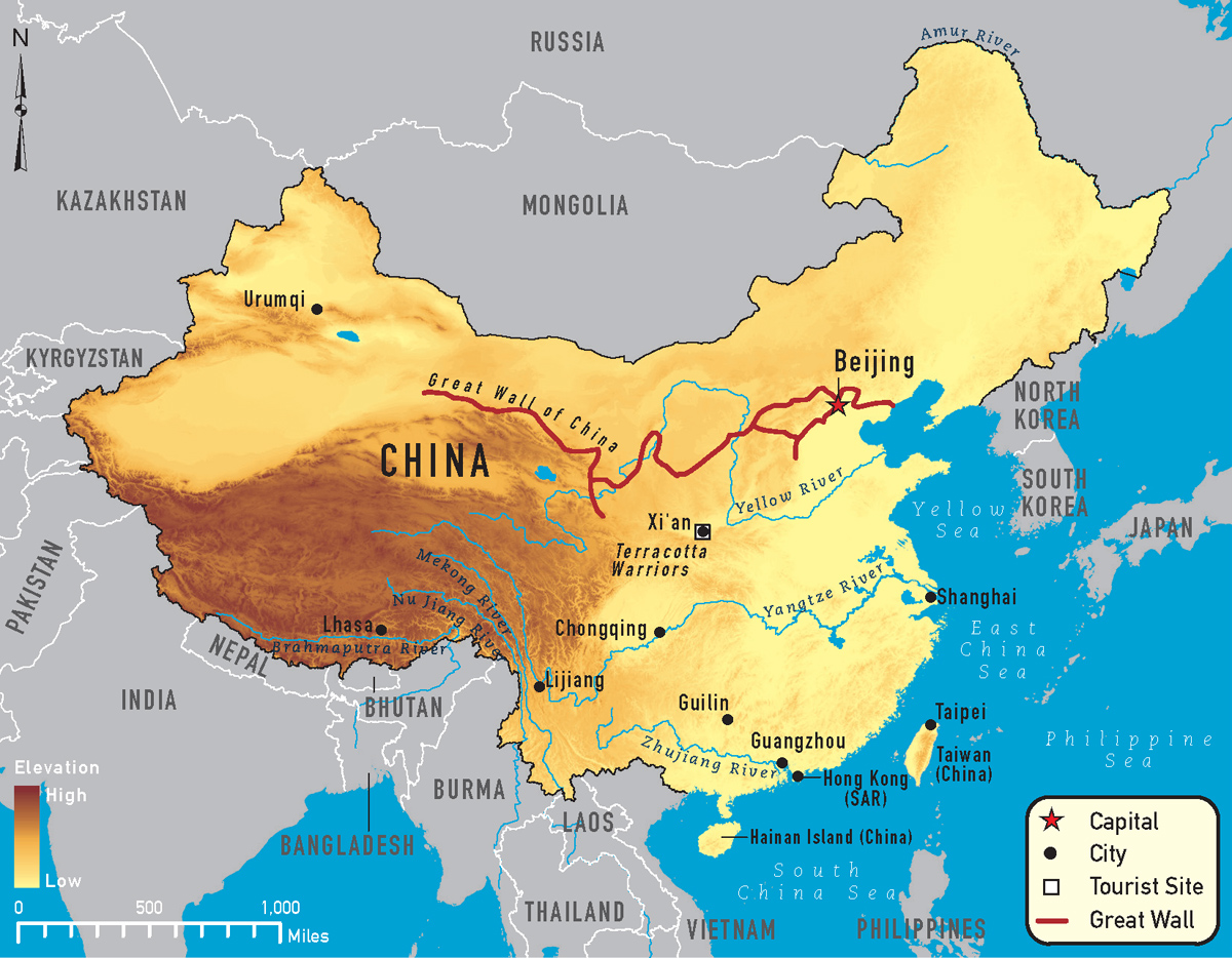 china-river-map