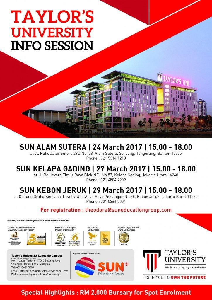 Taylor's University Info Session @ SUN Education Alam Sutera | Banten | Indonesia
