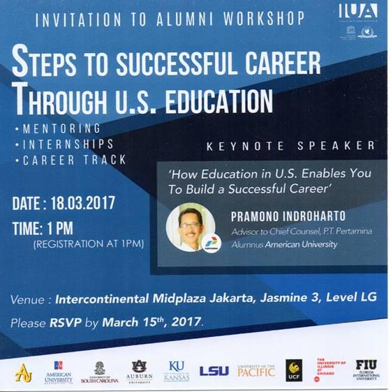 Alumni Workshop Steps to Successful Career Through US Education @ intercontinental midplaza Jakarta | DKI Jakarta | Indonesia