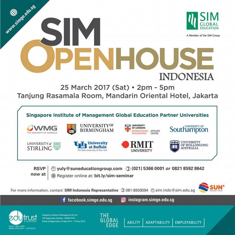 Singapore Institute of Management (SIM) Seminar 2017 @ Mandarin Oriental Hotel Jakarta | DKI Jakarta | Indonesia