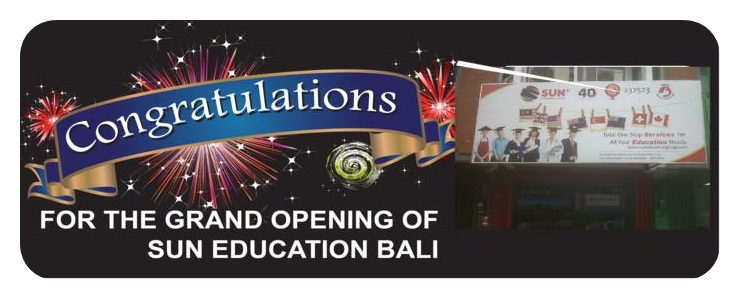 congratulations for grand opening sun bali new office