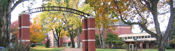 Figure 1. Gerbang kampus Seattle Pacific University. Sumber: Cultural