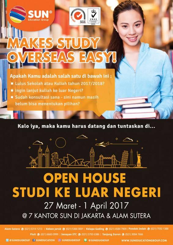 Open House Studi ke Luar Negeri @ SUN Education Jakarta Office & Alam Sutera