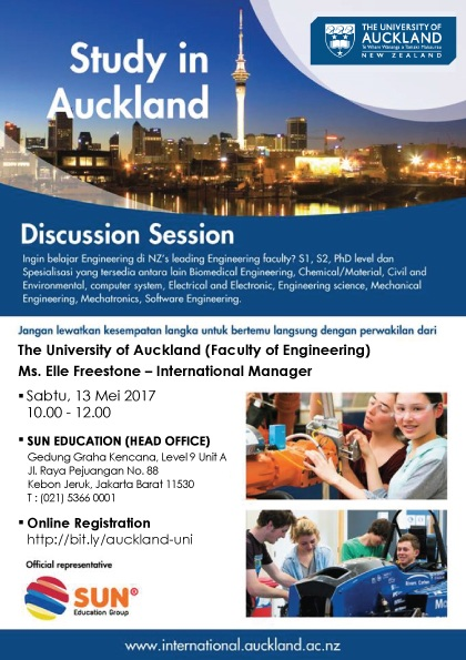 [:in]Study in Auckland - Discussion Session[:] @ Gedung Graha Kencana Level 9 Unit A | Daerah Khusus Ibukota Jakarta | Indonesia