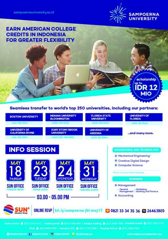 Sampoerna University Info Session @ SUN Education - Pondok Indah | Daerah Khusus Ibukota Jakarta | Indonesia