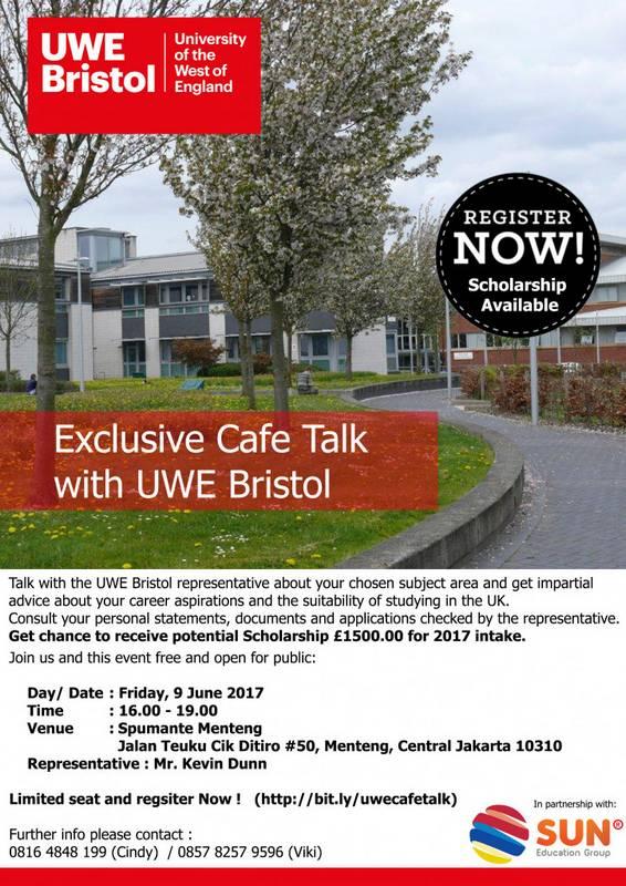 [:in]UWE Bristol Exclusive Cafe Talk[:] @ Spumante Cafe | Daerah Khusus Ibukota Jakarta | Indonesia