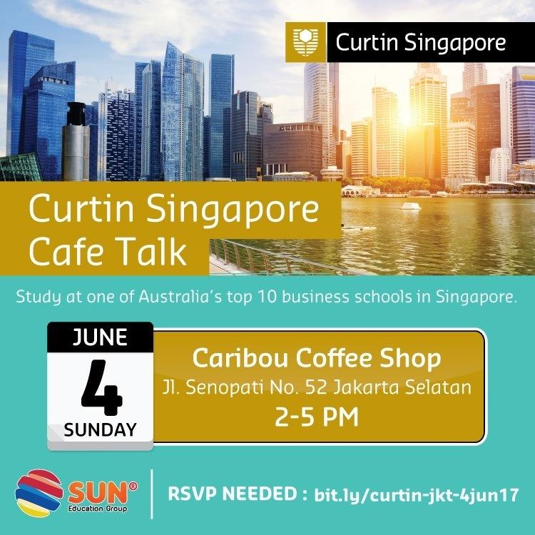 [:in]Curtin Singapore Cafe Talk[:]