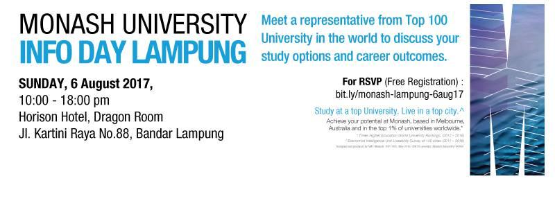 monash university info day lampung