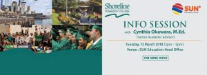 Shoreline Community College Info Session 2018
