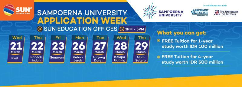 Sampoerna University Application Week 2018