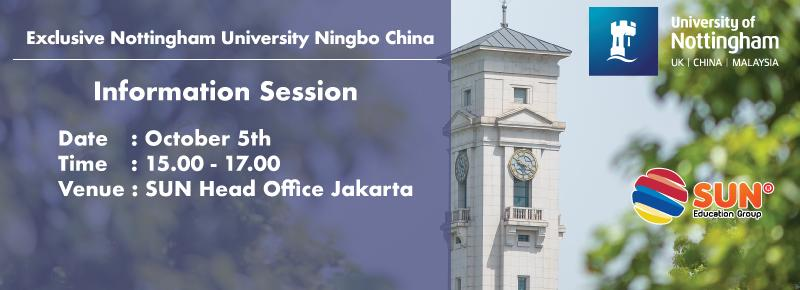 University of Nottingham Ningbo China Info Session 2018
