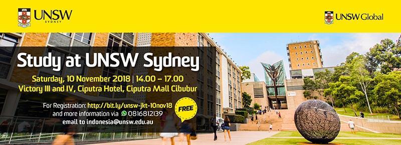 Study at UNSW Sydney 2018