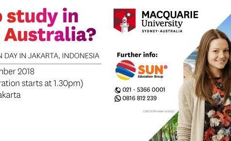 Macquarie University Open Day Jakarta 2018