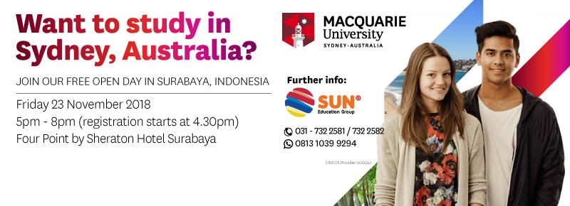 Macquarie University Open Day 2018