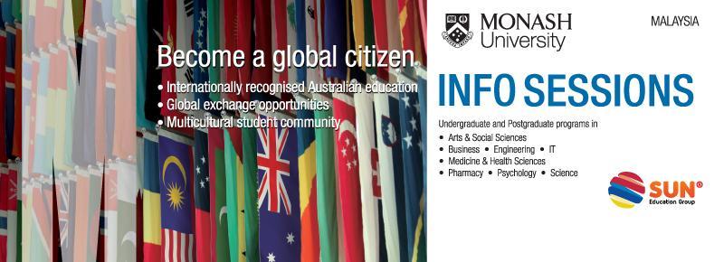 Monash University Malaysia Info Sessions 2018