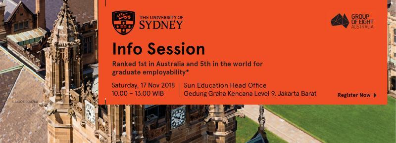 University of Sydney Info Session 2018