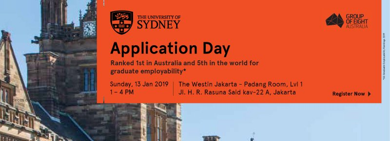University of Sydney Application Day 2019