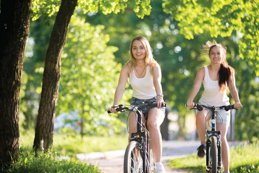 Biking with friend