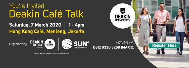 deakin cafe talk jakarta 2020