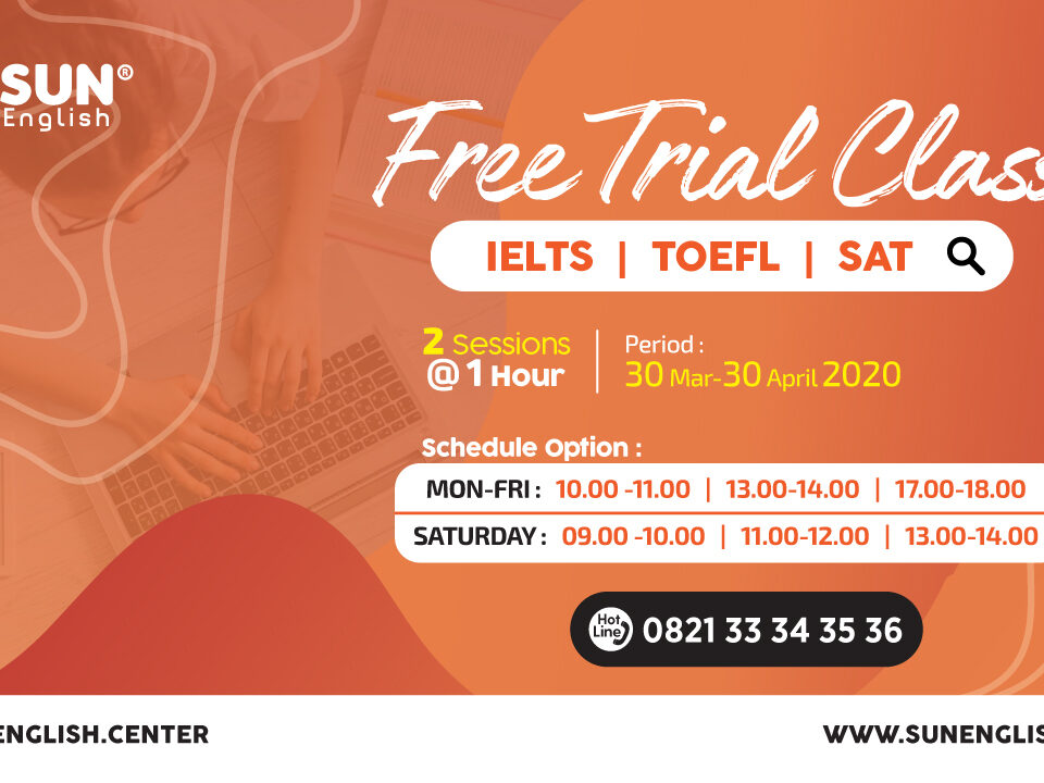 free trial class sun english