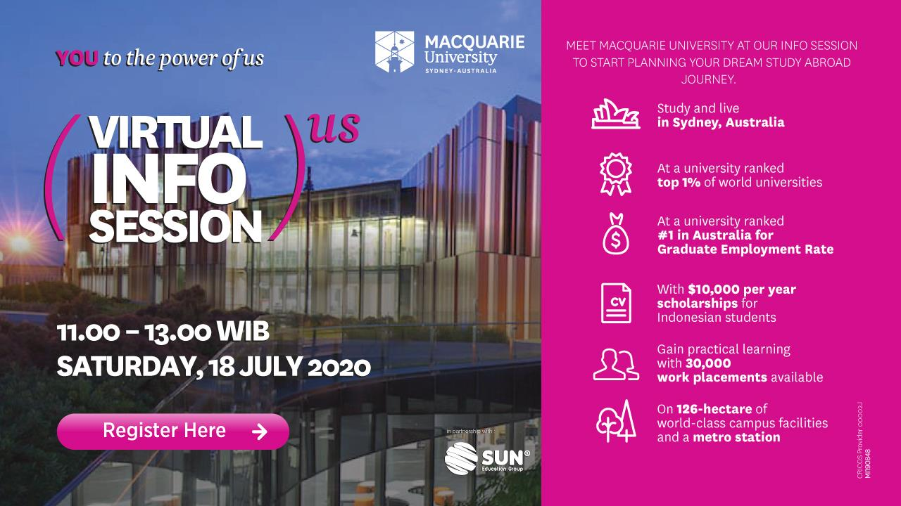 Macquarie University Virtual Info Session