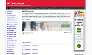 Latihan IELTS online di ielts-exam.net